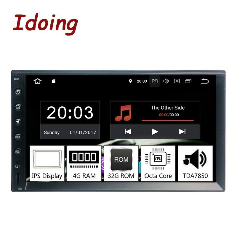 Idoing 2Din 7 PX5 4G + 32G Octa Core Universal Auto GPS Radio Player Android 9.0 IPS bildschirm navigation Multimedia Bluetooth TDA7850