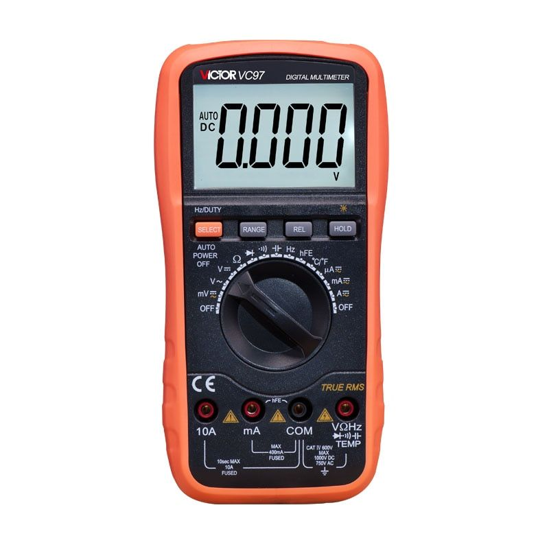 Professional True RMS Auto Range 4000 Counts Resistance Capacitance Frequency Temperature Victor Digital Multimeter VC97