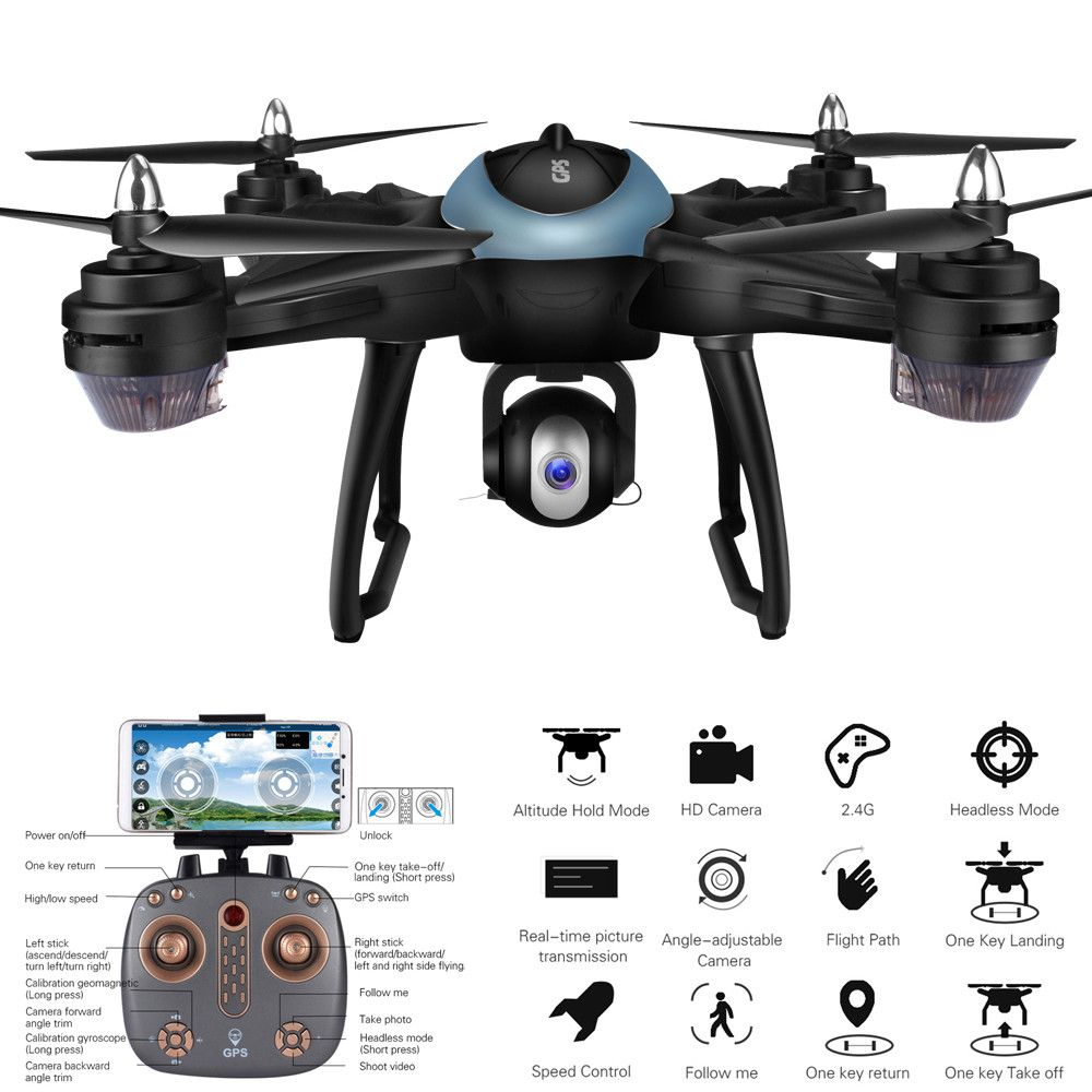 LH-X38G Dual GPS FPV Drone Quadcopter With 1080P HD Camera Wifi Headless Mode Gift 2018 Brusting Airplanes Christmas gift