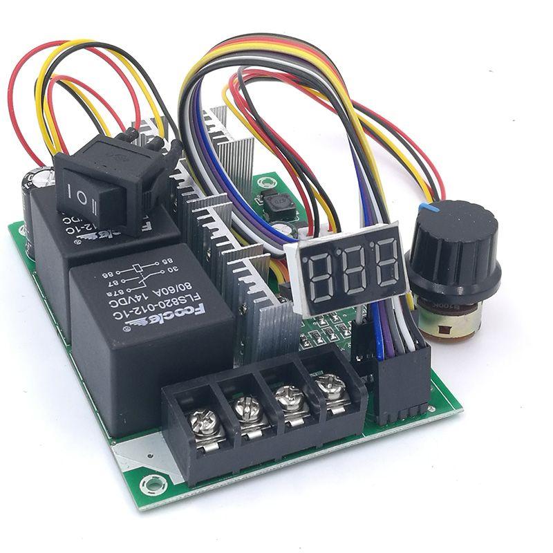Contrôleur de vitesse PWM DC moteur affichage numérique 0 ~ 100% module d'entraînement réglable entrée MAX60A 12V 24V