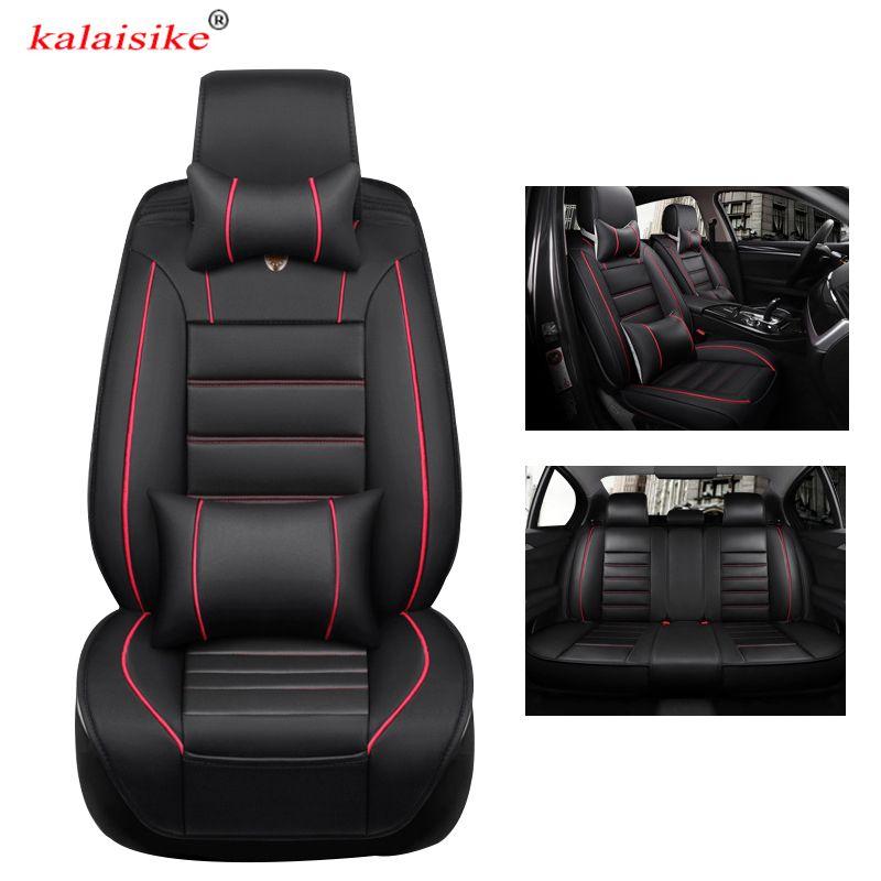 Kalaisike leder universal autositzbezüge für Audi alle modelle A7 S6 A5 A1 Q5 A3 S8 Q3 Q7 S7 SQ5 A4 A6 auto zubehör styling