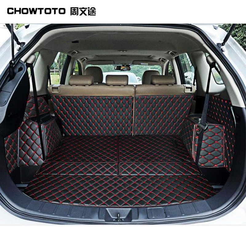 CHOWTOTO Custom Special Trunk Mats For Mitsubishi Outlander 5seats Durable Waterproof Luggage Mat For Outlander 5 Seats Boot pad