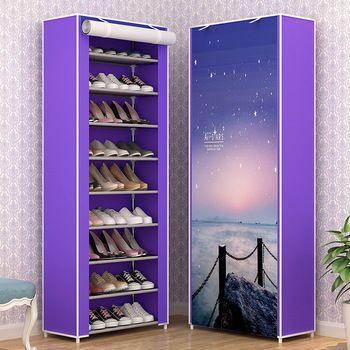 10 Niveau Simple, étagère à chaussures antipoussière multicouche recevoir étagère à chaussures tissu étudiant dortoir armoire À Chaussures en gros Pour le Salon