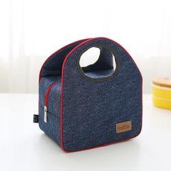 Новая модная джинсовая сумка для ланча, Повседневная Термосумка для женщин, для детей или мужчин, Изолированная коробка для пикника, сумка д...