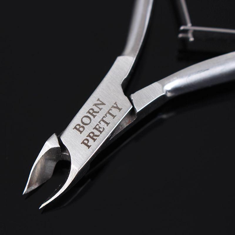 1 Stück GEBOREN ZIEMLICH Silber Nail Hautzange Clipper Schere Zange Dead Skin Remover Nagelpflege Maniküre Nagelkunstwerkzeuge