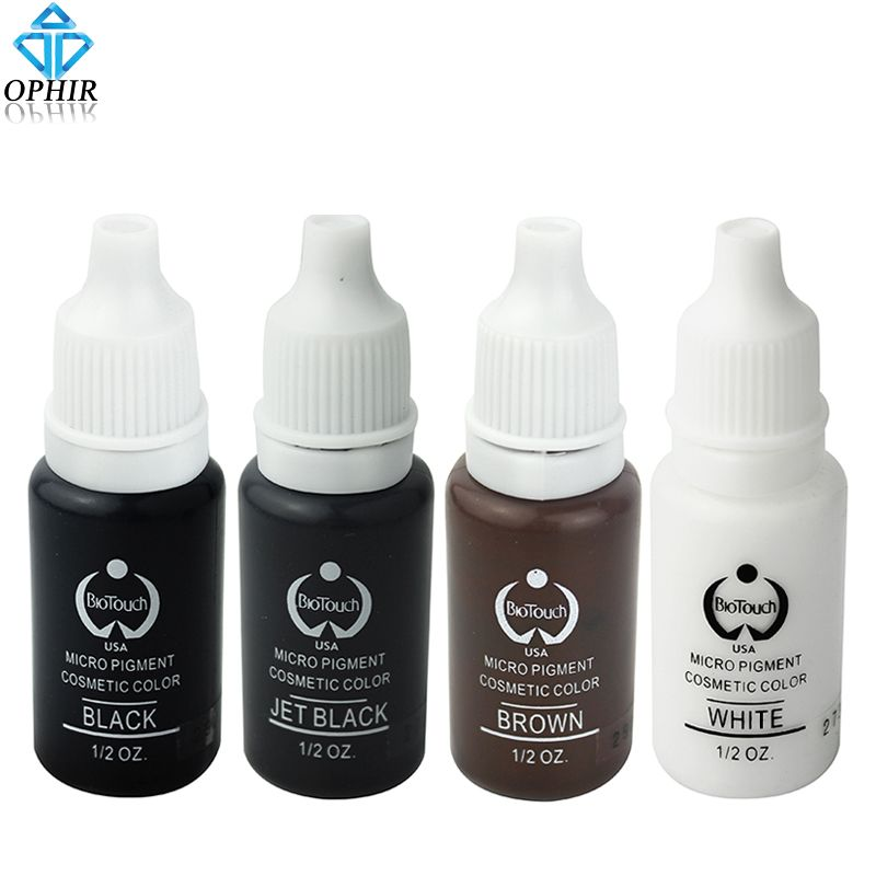 OPHIR 1/2OZ PRO Tattoo Ink Pigment for Permanent Makeup Eyebrow Eyeliner Lip Body Tattoo Art (23 Colors for Choosing) _TA116