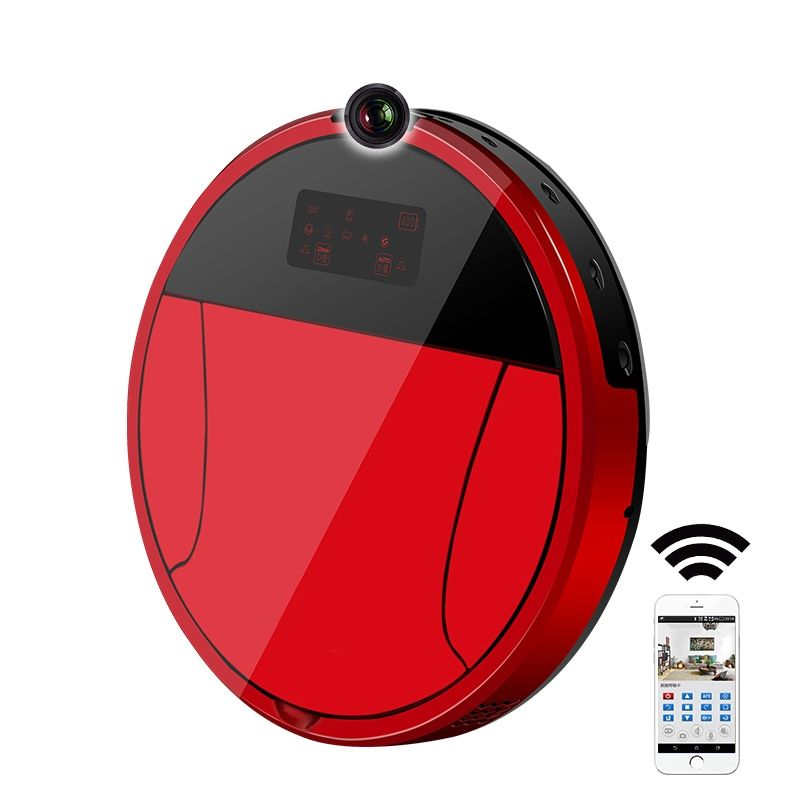 2018 PAKWANG Robotic Vacuum Cleaner With Camera,Wi-fi Control,Video Call,Night Surveillance,7000Mah Battery Robot Vacuum Cleaner