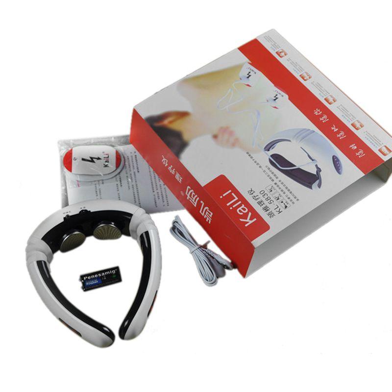 Electric Back Neck massager Impulse Cervical Vertebra Treatment Instrument Acupuncture magnetic therapy Neck pillow massager