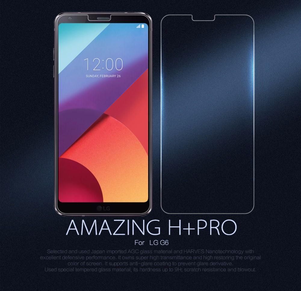 Pour LG G6 verre trempé protecteur d'écran NILLKIN étonnant H & H + Pro nanomètre Anti-Explosion verre film de protection pour LG G6
