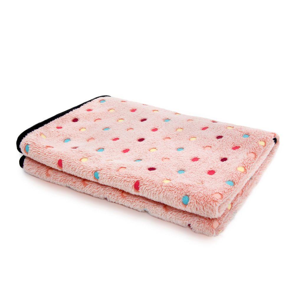 Livraison gratuite Super doux Pet serviette corail polaire couverture Dot rayure pour chiot et chat serviette de bain taille S/M fournitures pour animaux de compagnie