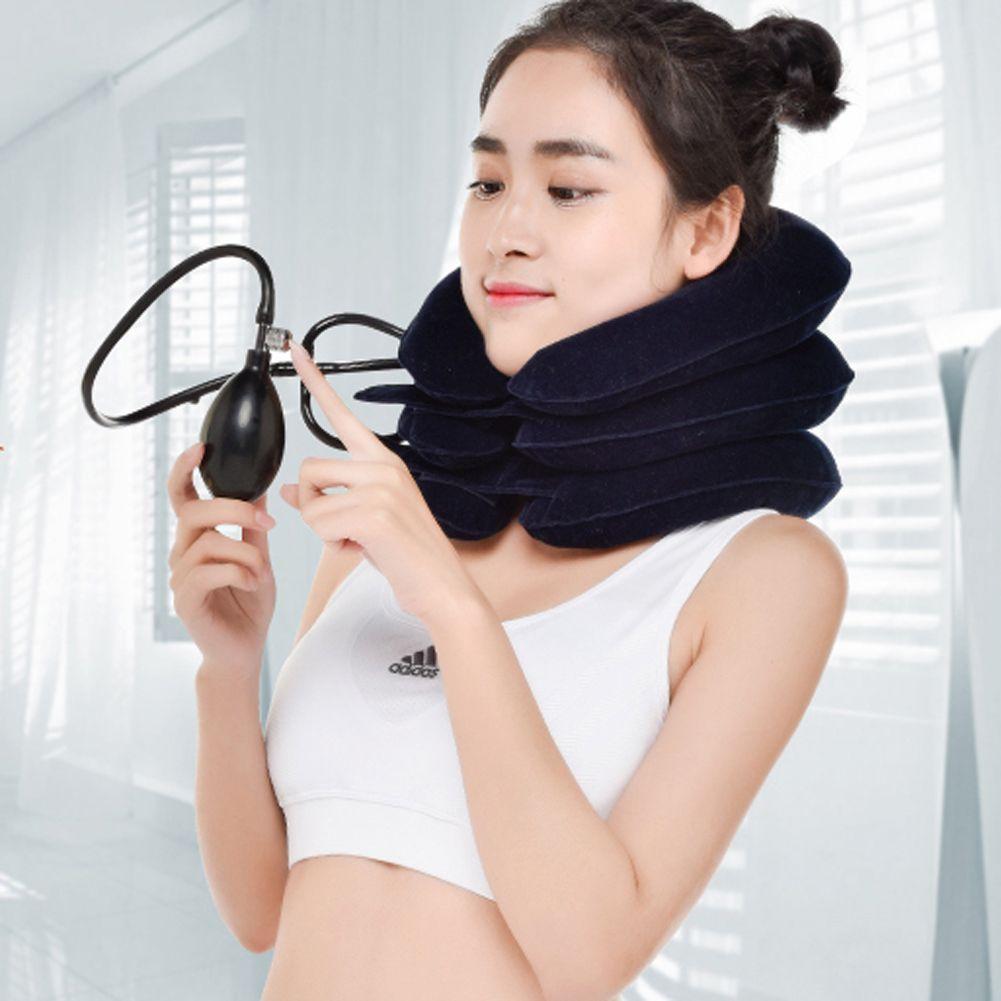 U Neck Pillow Air Inflatable Pillow Cervical Brace Neck Shoulder Pain Relax Support Massager Pillow Air Cushion Traction Soft