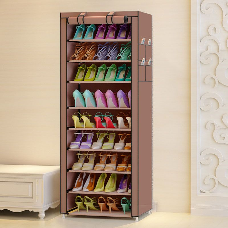 Multi-purpose Oxford Cloth Dustproof Waterproof Shoes Cabinet Shoes Racks 10 Layers 9 Grids Shoe Organizer Shelf Shoes Furniture