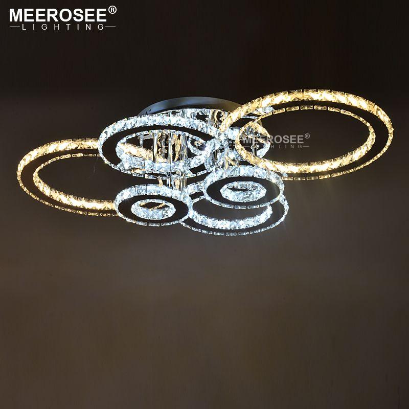 Klar LED Ring Leuchte LED Kronleuchter Lustre Beleuchtung Flush Montiert LED Kreise Lampe für Esszimmer Sitzen Schlafzimmer Restaurant