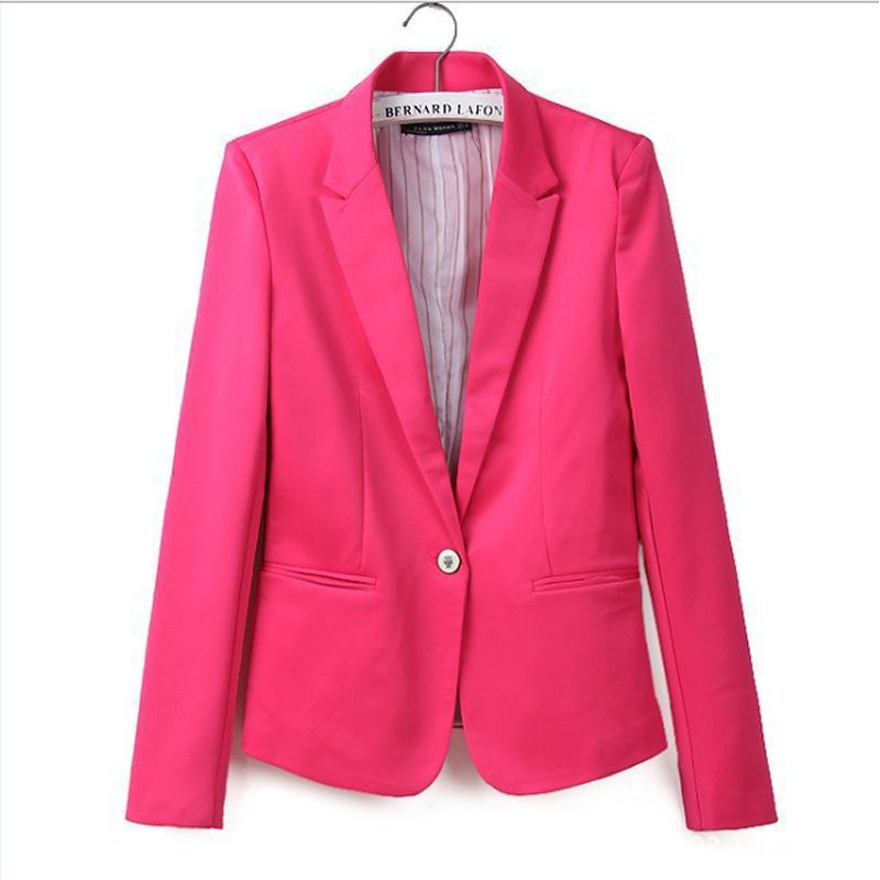 Новые Горячие стильные и удобные женские Пиджаки для женщин цвета конфеты с полосатой подкладкой костюм Бесплатная доставка wl2314