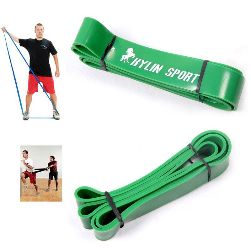 4.4 cm largeur verte Gym Premium Latex tirez les bandes du corps CrossFit boucle résistance bande 50 à 125 livres de bande de résistance