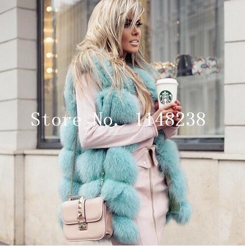 Vintage Femmes Vraie fourrure gilets Gilets Personnalisé PLUS LA TAILLE véritable de fourrure gilet vestes Naturel fourrure de renard manteaux abrigo mujer