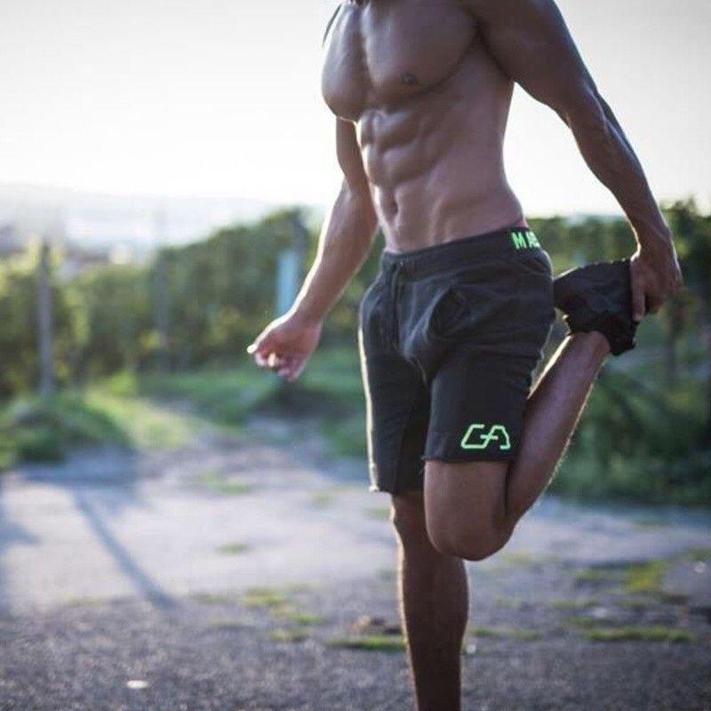Nouveau Mode Mens Sportives Échouage Shorts Pantalon Coton Musculation Pantalon Fitness Courtes Jogger Casual Gymnases Hommes Shorts