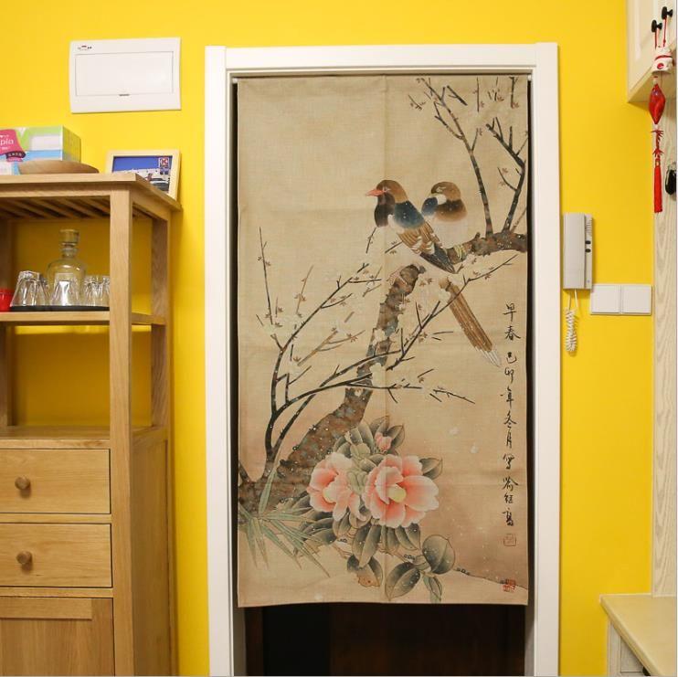 XIAOKENAI 85x120 cm 85x150 cm traditionnel chinois décoratif porte rideau porte rideaux décor à la maison diviseur pour chambre cuisine
