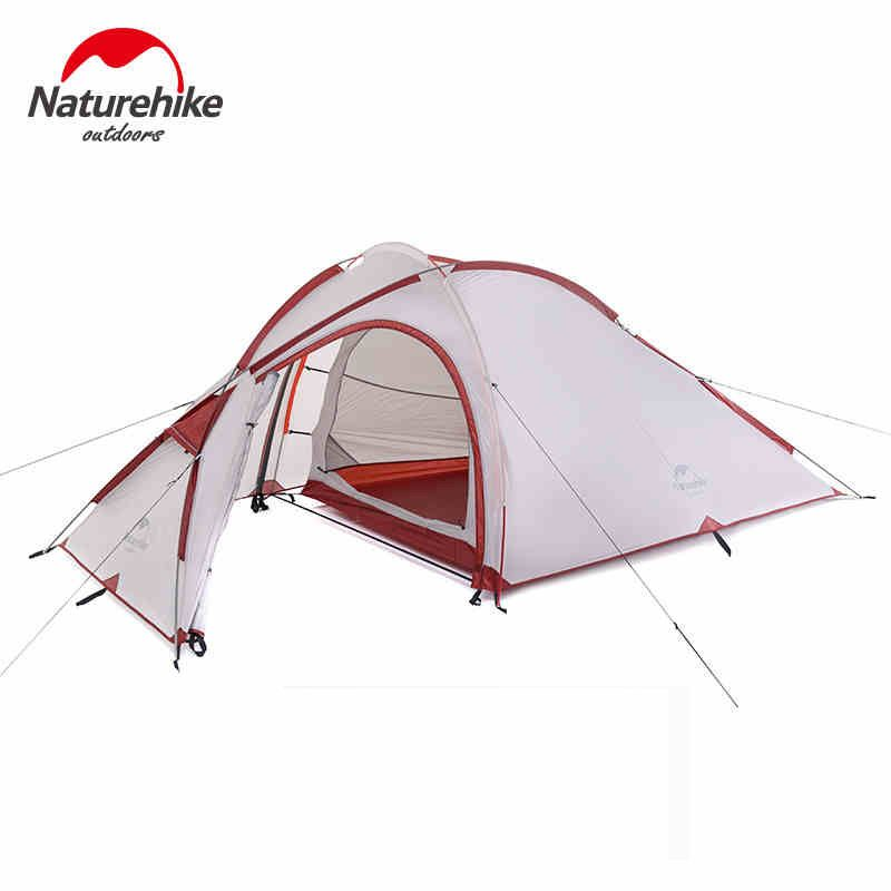 NatureHike Hiby Family Tent 20D Silicone Fabric Waterproof Double-Layer 2 Person 3 Season Aluminum Rod Outdoor Camping Tent