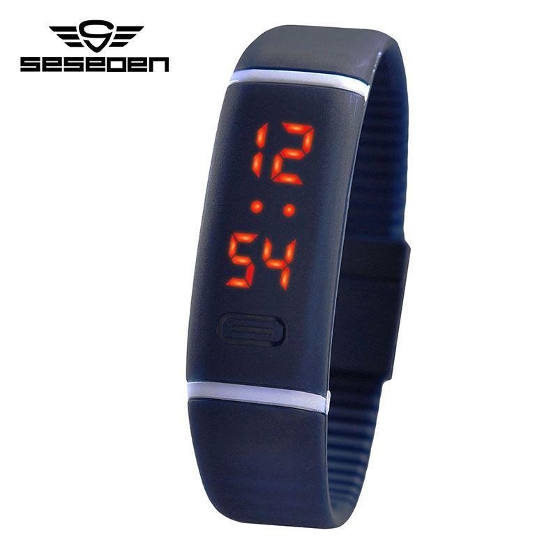 Новый раздел обновления Водонепроницаемый LED браслет детей Для женщин часы Для мужчин цифровой наручные Спорт шок Мода часы