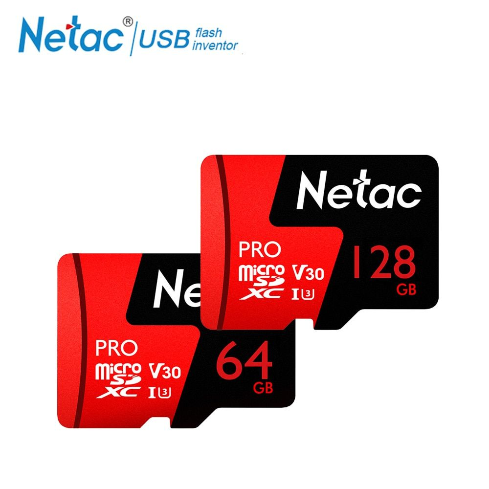 Netac P500 Pro 64GB Micro SD Card 128GB TF Card U3 V30 Computer Video Card Up to 100MB/s Phone Memory Card For Smartphone Drone