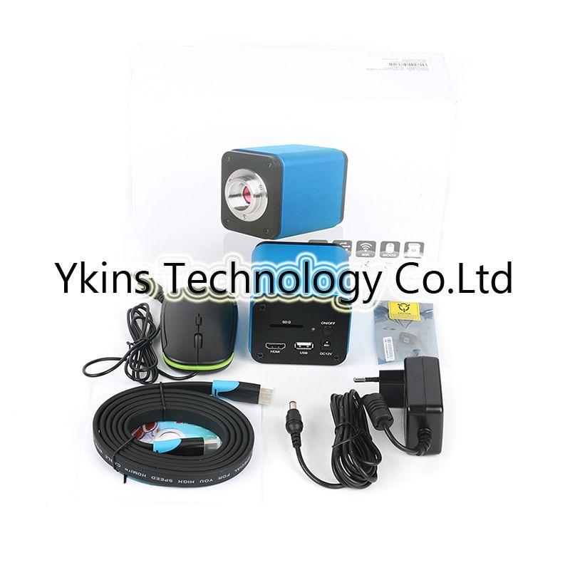 Auto Focus IMX185 1080 p 60FPS HDMI USB WIFI Industrielle Video Mikroskop Kamera C-Mount Objektiv selbst fokus löten mikroskop