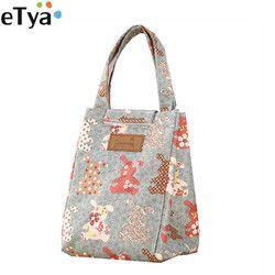 ETya/милые сумки для обедов с героями мультфильмов для женщин, Детская термоизоляция, большая женская сумка, сумка-холодильник для пикника, вм...