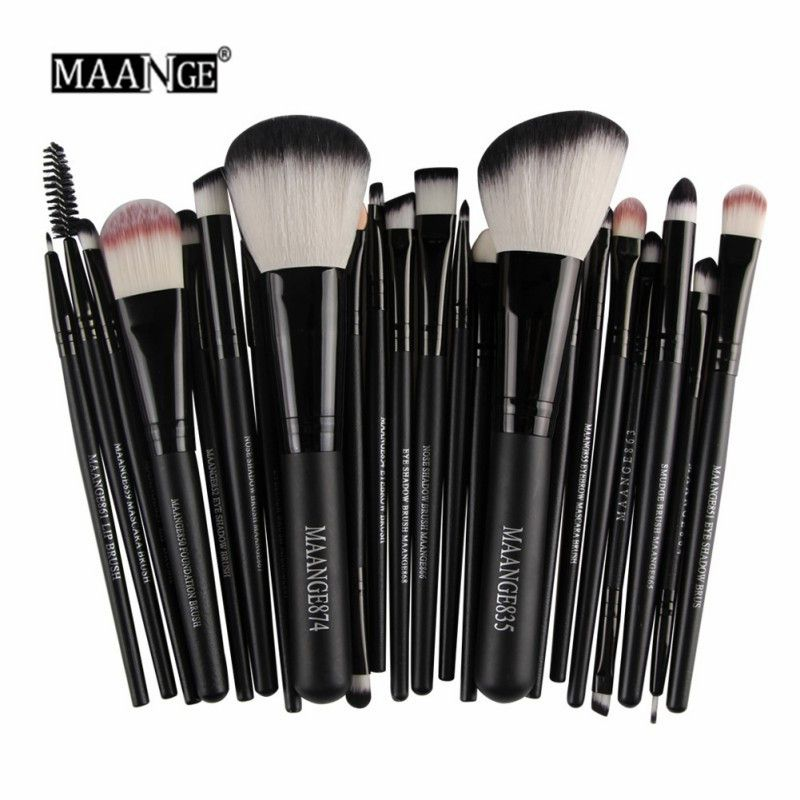 MAANGE 22 Pcs Pro Makeup Brush Kit Powder Foundation Eyeshadow Eyeliner Lip Make Up Brushes Set Beauty Tools Maquiagem