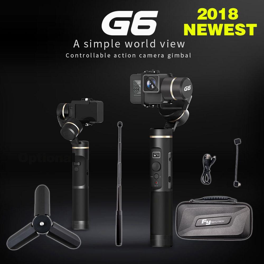 FeiyuTech feiyu G6 Gimbal Feiyu Action Kamera Wifi Blue Tooth OLED Rasterwinkel für Gopro Hero 6 5 4 RX0 xiaomi yi sony