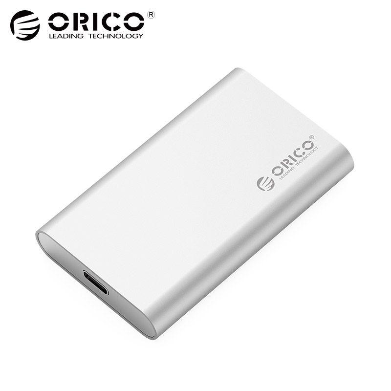 ORICO Typ-C Mini mSATA SSD Gehäuse Aluminium 5 Gbps High-speed HDD Fall für Laptop Desktop für windows/Linux/Mac Schraube Befestigung
