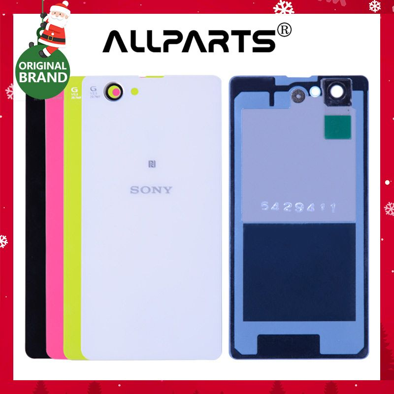 ORIGINAL Housing For Sony Xperia Z1 Compact Back Cover Case Z1 mini D5503 M51W Battery Rear Door with Adhesive Replacement Parts