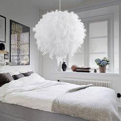 Moderne Pendentif Lumière Romantique Onirique Plume Droplight Chambre Suspendus Lampe Lamparas E27 110-240 V