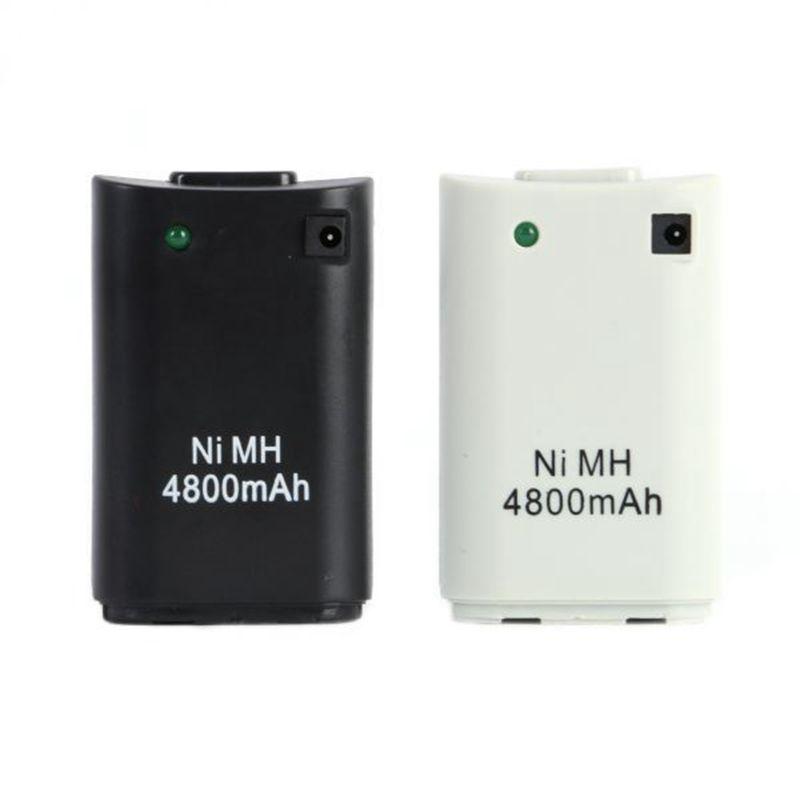 GTF Details über Weiß 4800 mAh Akku + USB Ladekabel Für Xbox 360 Wireless Controller