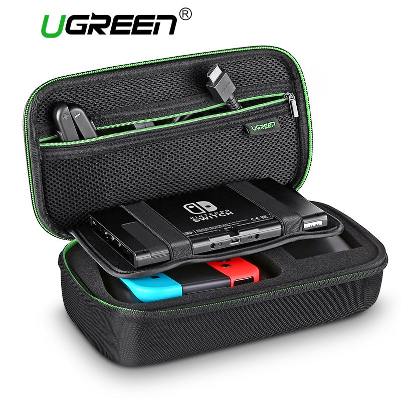 Ugreen Storage Bag for Nintend Nintendo <font><b>Switch</b></font> Case Durable Carrying Pouch Case for Nintendo <font><b>Switch</b></font> Game Accessories Bag
