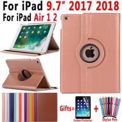 360 grados que giran la cubierta elegante de cuero para Apple iPad aire 1 aire 2 nuevo iPad 9,7 2017 2018 A1822 a1823 A1893 Coque Capa Funda