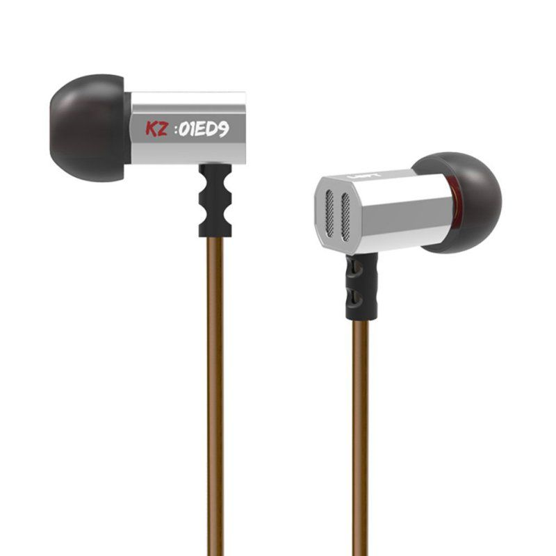 KZ ED9 Wired L Bending In-Ear Earphone With Microphone With <font><b>Noise</b></font> Cancelling Funtions For Mobile Phone Supports Music