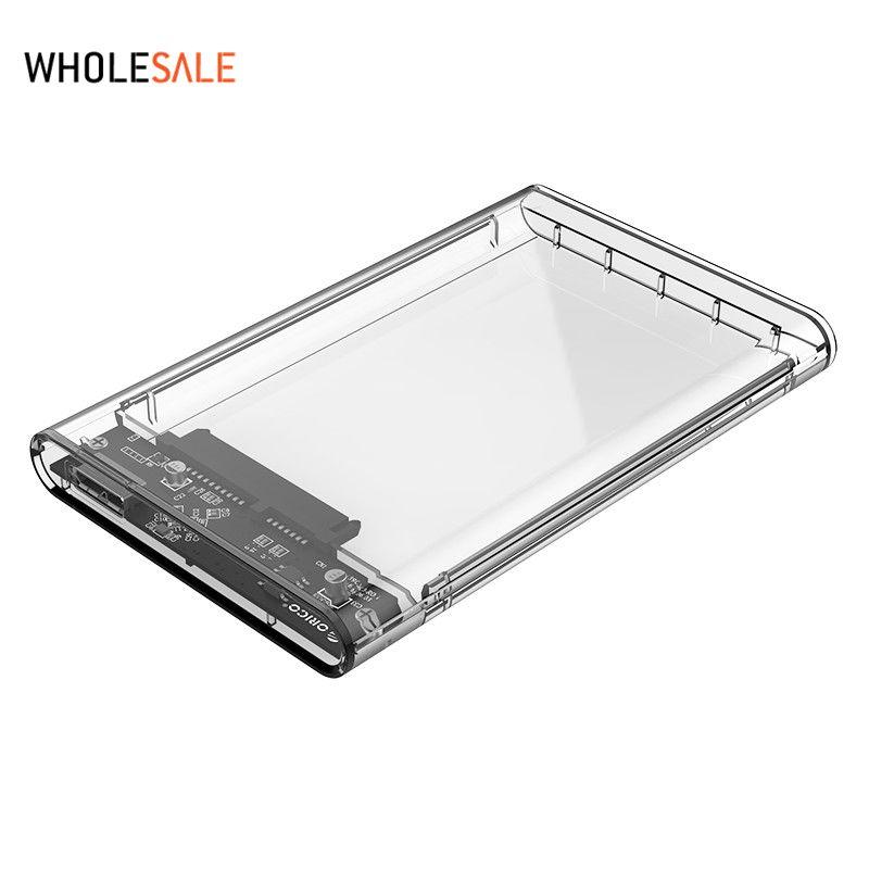 Orico 2.5 USB 3.0 SATA Hd Boîte HDD Disque Dur Externe Hdd Case Transparent Outil Livraison 5 Gbps Soutien 2 TB