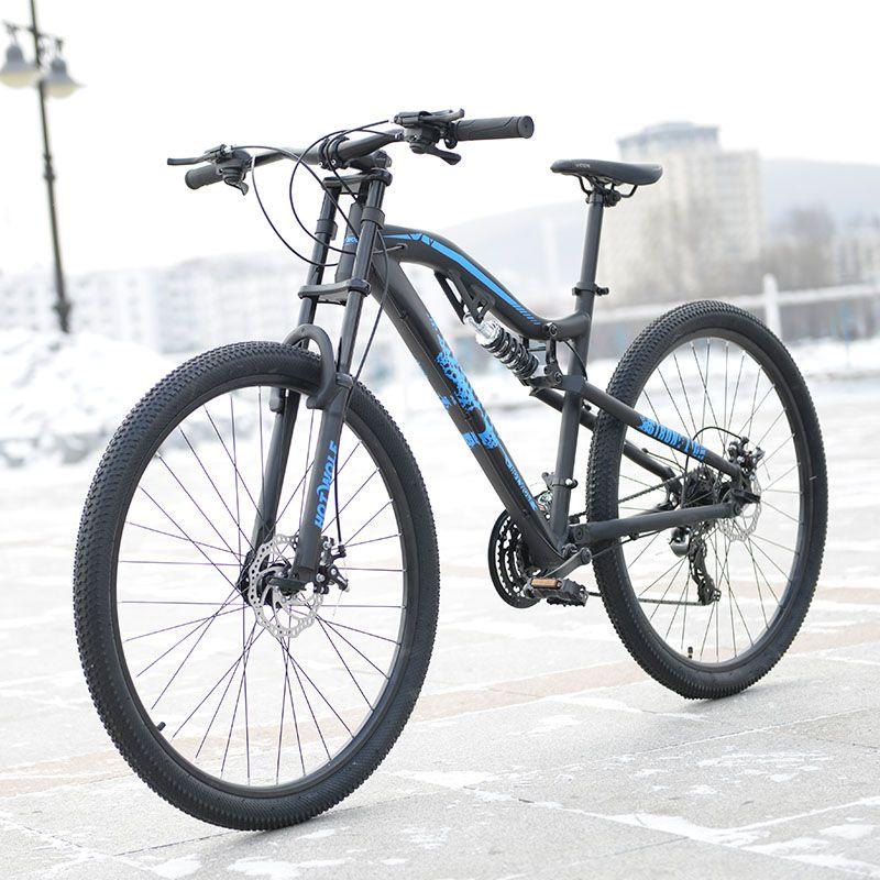 Heißen wolf 29 zoll fahrräder aluminiumlegierung 24 geschwindigkeit weichen schwanz rahmen faltung mountainbike 19 zoll fahrradrahmen für große mann