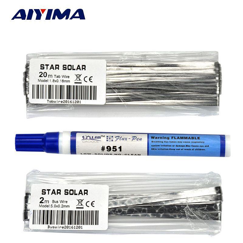 Bricolage panneau solaire cellule solaire soudure fil bande 20 M photovoltaïque soudage interconnexion 2 M Convergence Zone 951 stylo de soudage