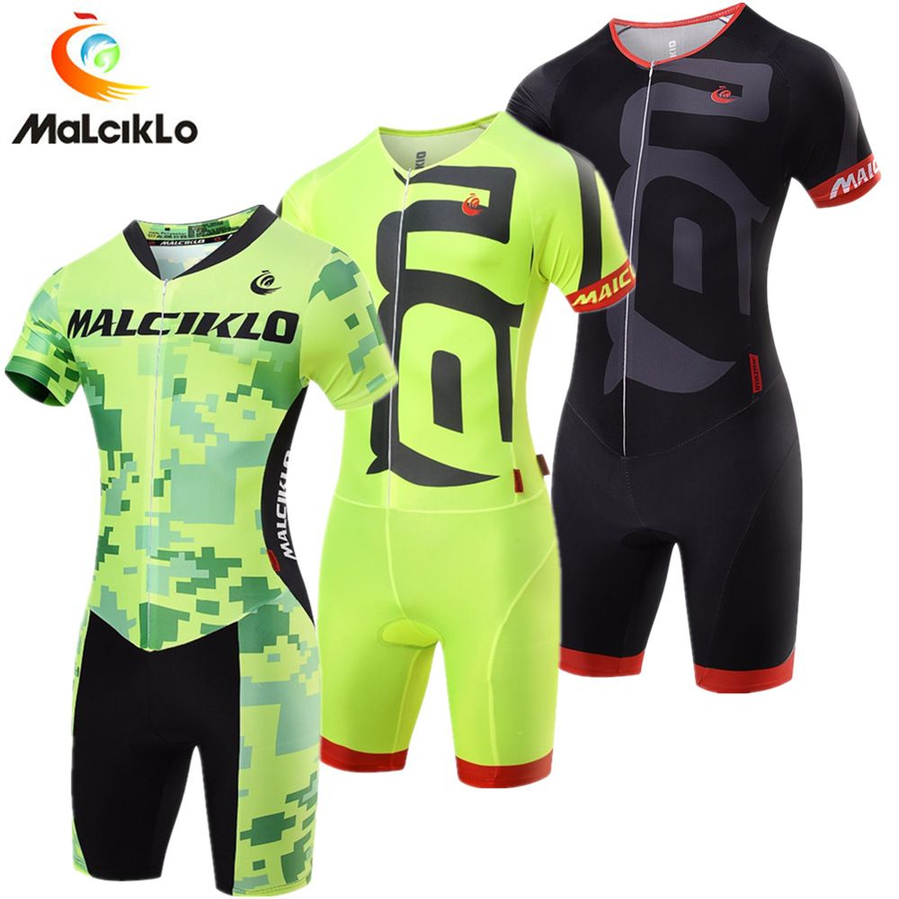 Pro Team Triathlon Suit Men's Cycling Jersey Skinsuit Jumpsuit Maillot Cycling Clothing Ropa Ciclismo Running Bike Sports Set