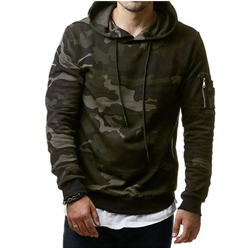 Hoodies Men Autumn 2017 Men Military camouflage sweatshirt Pullover Casual Hip hop Hoodies & Sweatshirts Plus velvet 3d hoodies