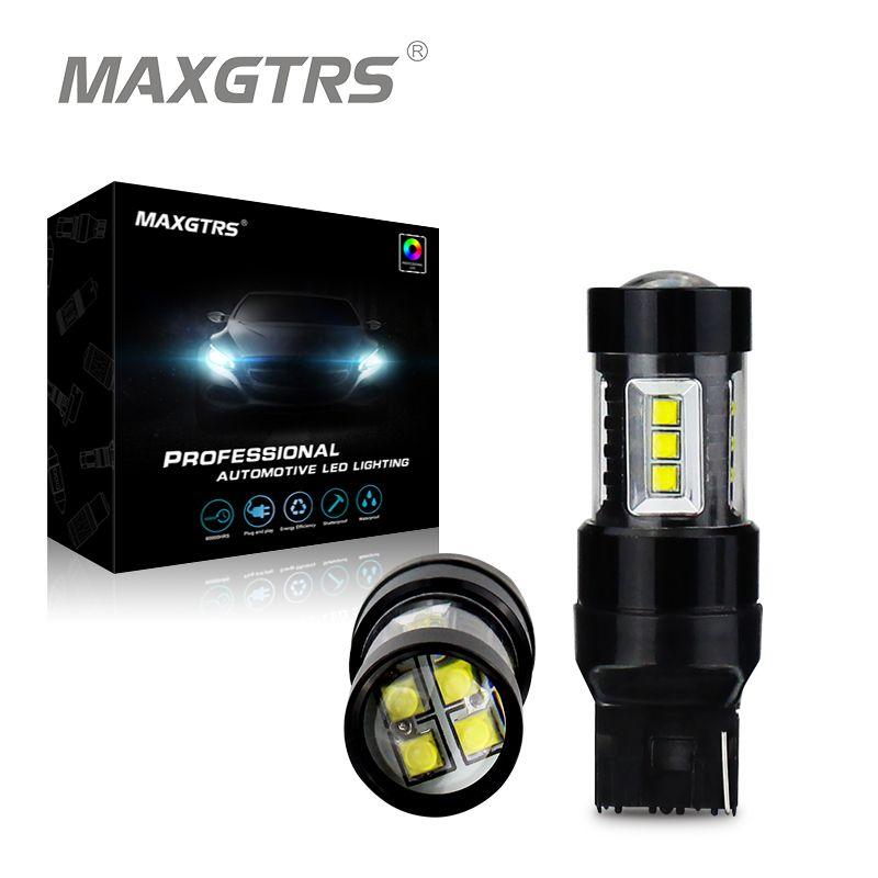 2x80 Вт CREE чип T20 7440 W21W светодиодные лампы для автомобилей Фары заднего хода сигнала резервного копирования DRL огни DC12V-24V белый /красный/желтый