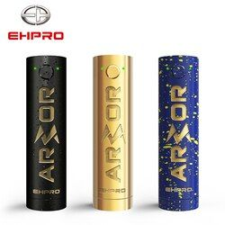 Original Ehpro armadura mecánico principal Color negro Mod 510 hilo 20700 18650 batería cigarrillo electrónico Vape Mech Mod latón