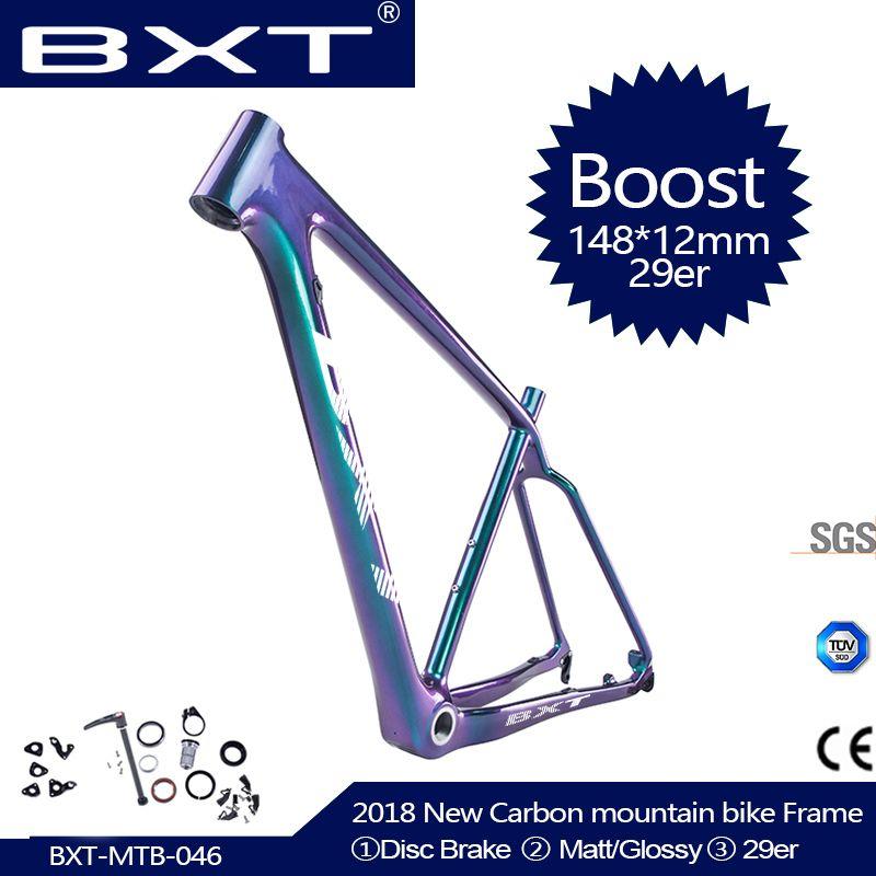 2019 NEUE 29er Full Carbon BOOST rahmen 148*12mm MTB carbon fahrrad rahmen Mountainbike Rahmen verwendet für racing bike radfahren Teile
