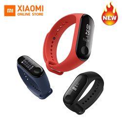 2018 D'origine Xiaomi mi bande 3 miband 3 message callerID Fitness Tracker étanche OLED tactile écran prévisions Météo Smartband