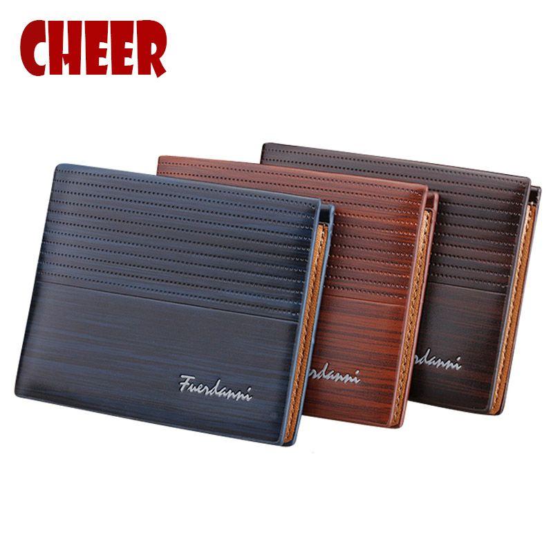 Fsshion Wallets Men's Pocket Casual Purse Money Clip Clutch Portfolio purse Price Multi-card bit Luxury High Quality wallets new