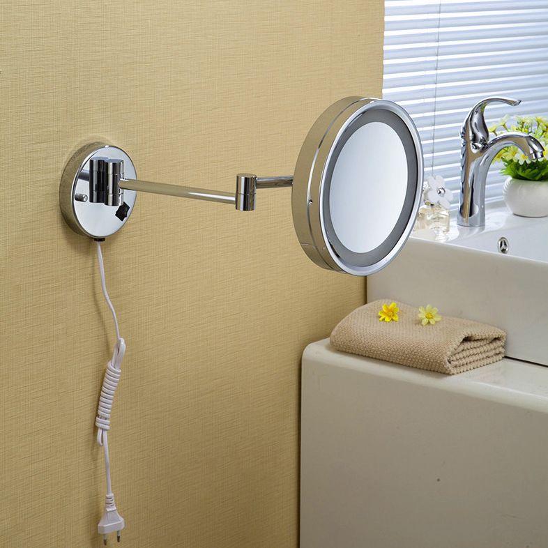 Bad Spiegel 8 Wand Montiert Runde Seite Badezimmer Spiegel FÜHRTE Make-Up Kosmetikspiegel Vergrößerungs Dame Private Spiegel 2098