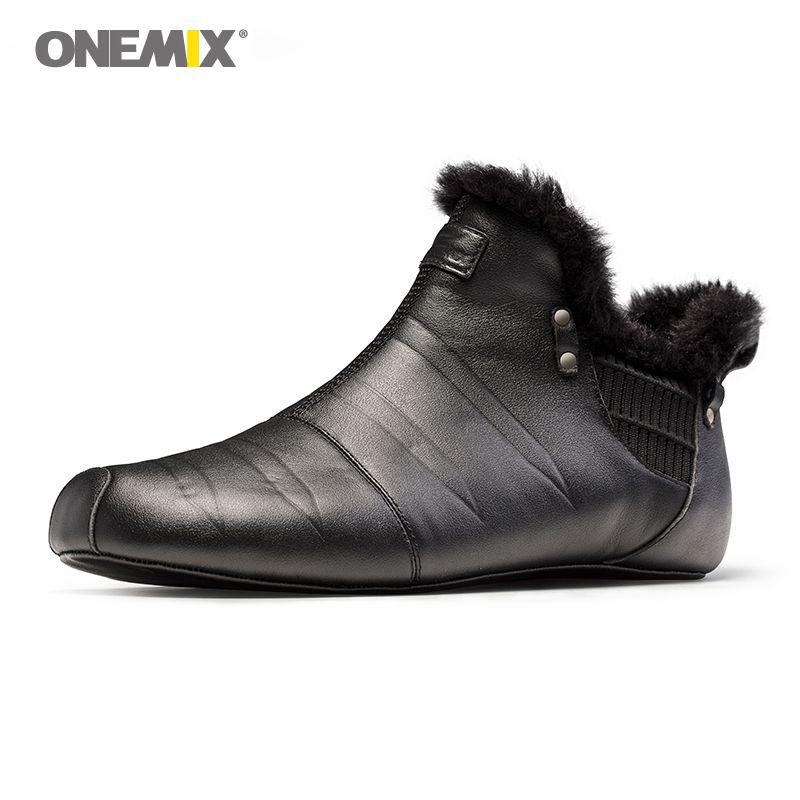 Onemix warm halten wanderschuhe für männer indoor schuhe keine kleber umwelt freundliche outdoor trekking wanderschuhe verkäufe