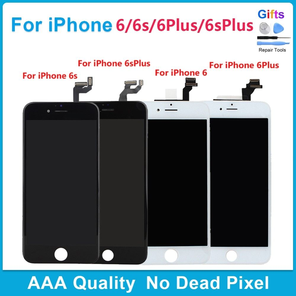 White Black 6plus 6s plus Pantalla LCD Display+Touch Screen Digitizer Replacement Repair Frame Assembly for iPhone 6 6S Plus