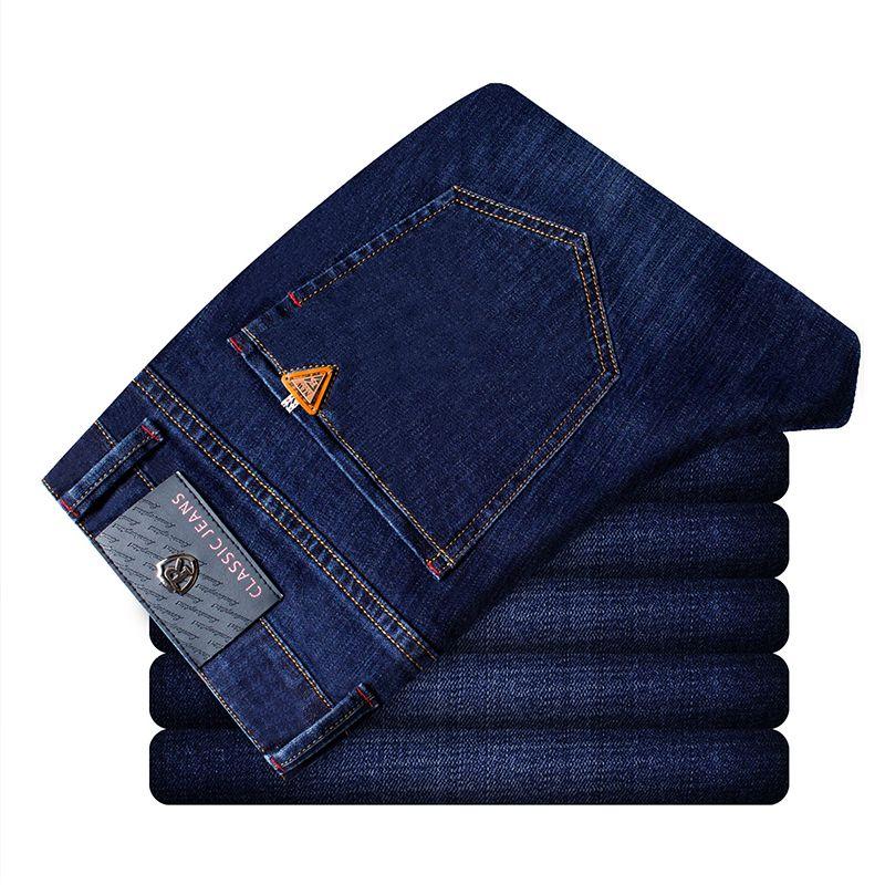 Männer's Stil, Mode Lässig Hochwertigen Denim Jeans Slim Fit Stretch Scratch Lange Jeans Hosen Hosen für Jungen China blau